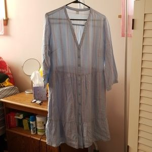 Blue old navy dress with stripes #264